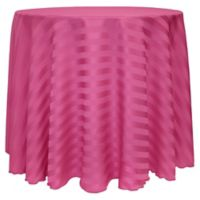 Poly-Stripe 90-Inch Round Tablecloth in Raspberry