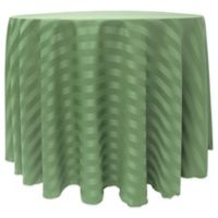 Poly-Stripe 90-Inch Round Tablecloth in Sage