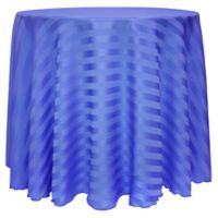 Poly-Stripe 90-Inch Round Tablecloth in Periwinkle