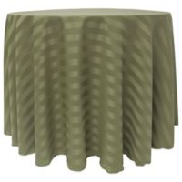 Poly-Stripe 90-Inch Round Tablecloth in Army Green