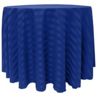 Poly-Stripe 108-Inch Round Tablecloth in Royal Blue