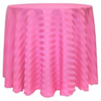 Poly-Stripe 120-Inch Round Tablecloth in Watermelon