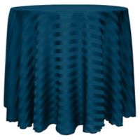 Poly-Stripe 120-Inch Round Tablecloth in Blue Lagoon