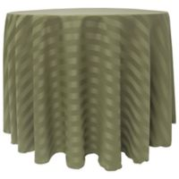 Poly-Stripe 120-Inch Round Tablecloth in Army Green