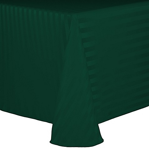 Buy Poly Stripe 72 Inch X 108 Inch Oblong Tablecloth In