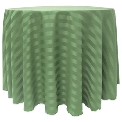 Awesome Poly Stripe 132 Inch Round Tablecloth In Green
