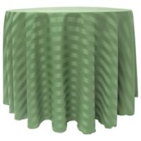 Poly-Stripe 132-Inch Round Tablecloth in Green