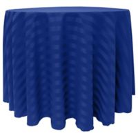 Poly-Stripe 132-Inch Round Tablecloth in Royal