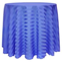 Poly-Stripe 132-Inch Round Tablecloth in Periwinkle