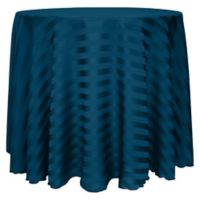 Poly-Stripe 132-Inch Round Tablecloth in Blue Lagoon