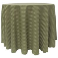 Poly-Stripe 132-Inch Round Tablecloth in Army Green