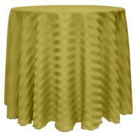 Poly-Stripe 132-Inch Round Tablecloth in Acid Green