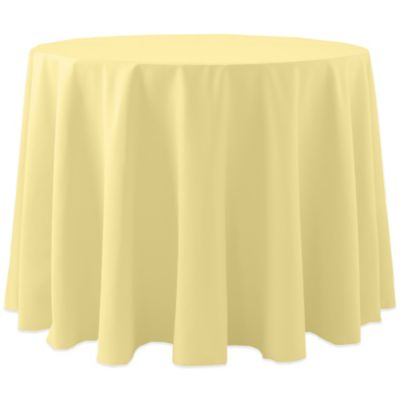 Spun Polyester 90 Inch Round Tablecloth In Yellow