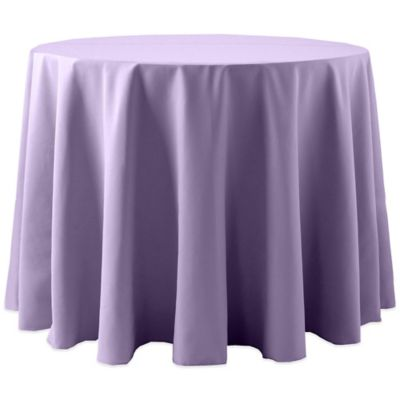 Spun Polyester 90 Inch Round Tablecloth In Lilac