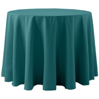 Superior Spun Polyester 90 Inch Round Tablecloth In Teal