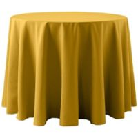 Spun Polyester 108-Inch Round Tablecloth in Gold