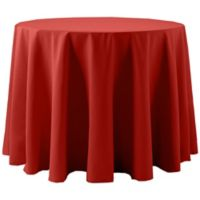 Spun Polyester 108-Inch Round Tablecloth in Red