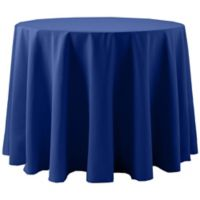 Spun Polyester 108-Inch Round Tablecloth in Royal