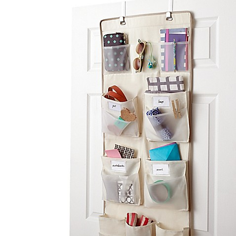 Real Simple® 29-Pocket Over-the-Door Multipurpose Organizer  sc 1 st  Bed Bath \u0026 Beyond : door pocket - pezcame.com
