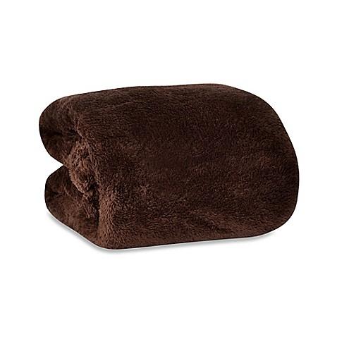 Berkshire Blanket 174 Fluffie Throw In Chocolate Bed Bath