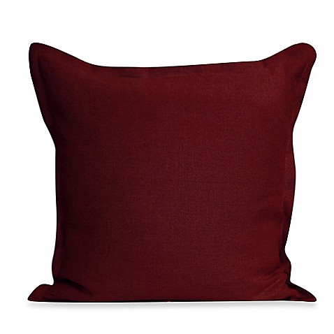 Throw Pillows For Maroon Couch : Ericson Square Throw Pillow in Burgundy - Bed Bath & Beyond