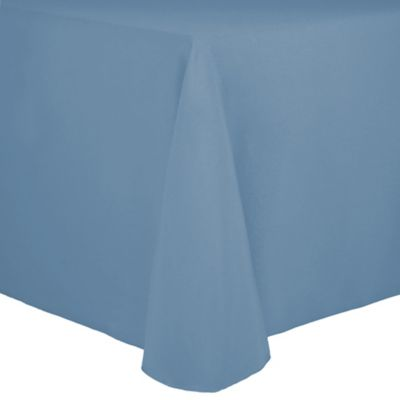 Spun Polyester 90 Inch X 132 Inch Tablecloth In Light Blue