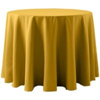 Spun Polyester 120-Inch Round Tablecloth in Gold