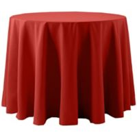 Spun Polyester 120-Inch Round Tablecloth in Red