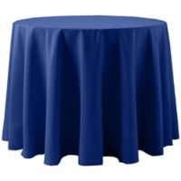 Spun Polyester 120-Inch Round Tablecloth in Royal