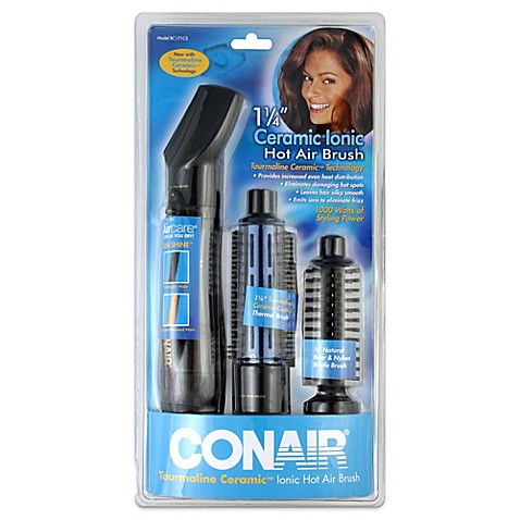 hot air styling brush short hair conair 174 1 1 4 inch ceramic coated air brush bed bath 3116 | 4822611510833p?$478$