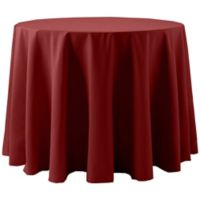 Spun Polyester 132-Inch Round Tablecloth in Brick