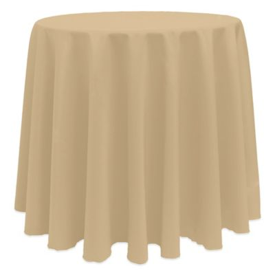 Basic 90 Inch Round Tablecloth In Camel