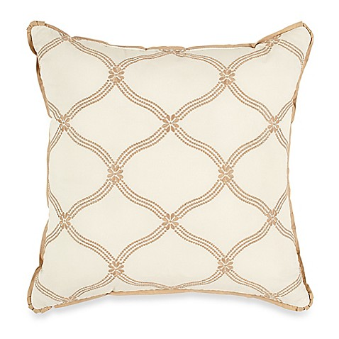 Winslet 14-Inch Square Toss Pillow in Tan