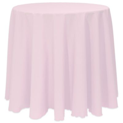 Basic 90 Inch Round Tablecloth In Ice Pink