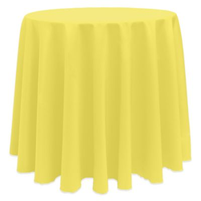 Basic 90 Inch Round Tablecloth In Lemon