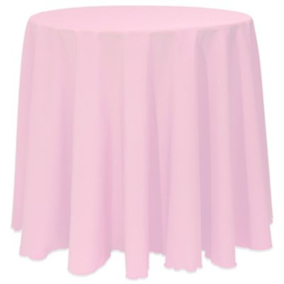 Basic 90 Inch Round Tablecloth In Light Pink