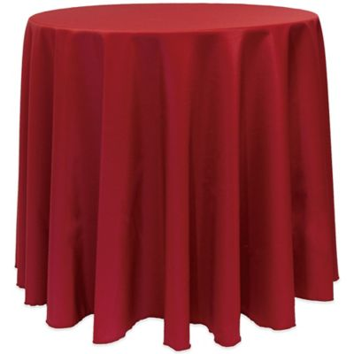 Superior Basic 90 Inch Round Tablecloth In Cherry Red