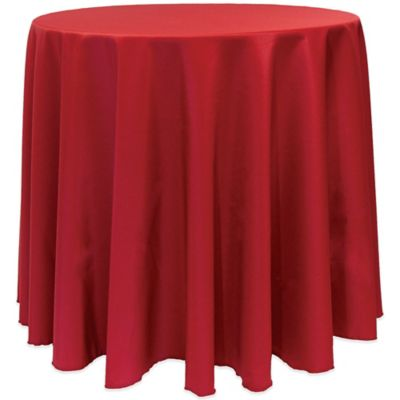 Basic 90 Inch Round Tablecloth In Holiday Red