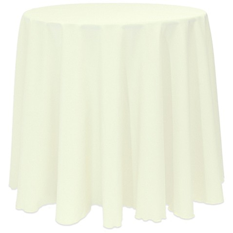 Buy Basic 90 Inch Round Tablecloth In Ivory From Bed Bath