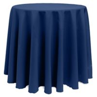 Basic 90-Inch Round Tablecloth in Navy