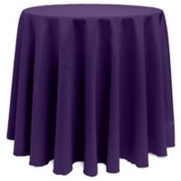 Basic 90-Inch Round Tablecloth in Purple
