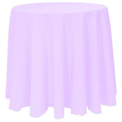 Beau Basic 90 Inch Round Tablecloth In Lilac