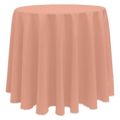 Basic 90 Inch Round Tablecloth In Coral