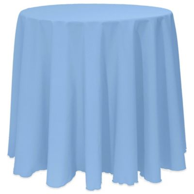 Basic 90 Inch Round Tablecloth In Light Blue