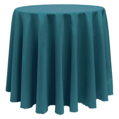 Basic 90 Inch Round Tablecloth In Teal