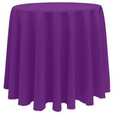Basic 90 Inch Round Tablecloth In Plum