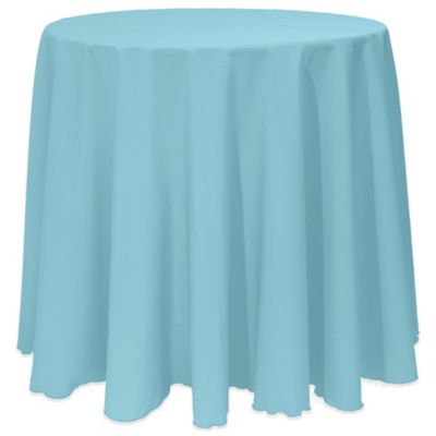 Bon Basic 90 Inch Round Tablecloth In Turquoise