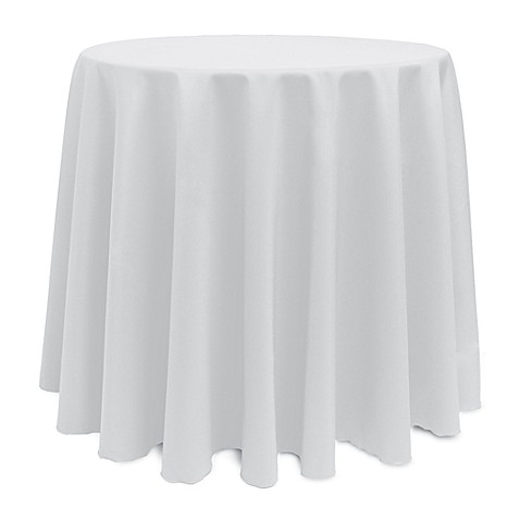 Buy basic 108 inch round tablecloth in white from bed bath for 108 inch round table cloth