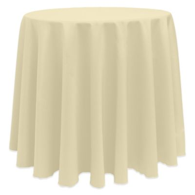Basic 108 Inch Round Tablecloth In Tan