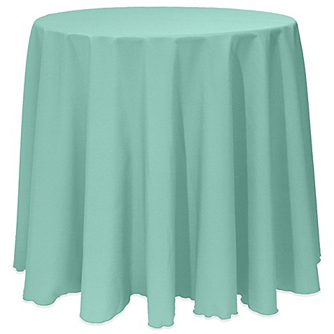 Buy basic 108 inch round tablecloth in seamist from bed for 108 inch round table cloth